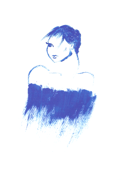 Ana-Madic-Malerei-Portrait-Lady-blue