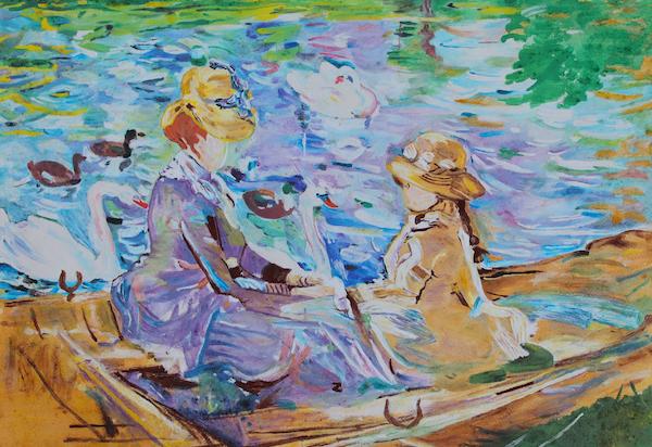 Ana-Madic-Malerei-Reproduktion-Berthe-Morisot-Auf-dem-See